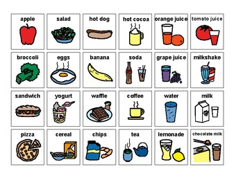 Sorting Items- Food and Drink