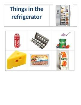 Sorting - Items in freezer vs. fridge vs. cupboard