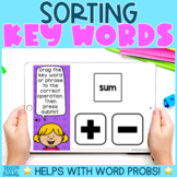 Sorting Key Words from Word Problems BOOM Cards