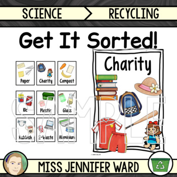Sorting Labels and Posters for Using Waste Bins