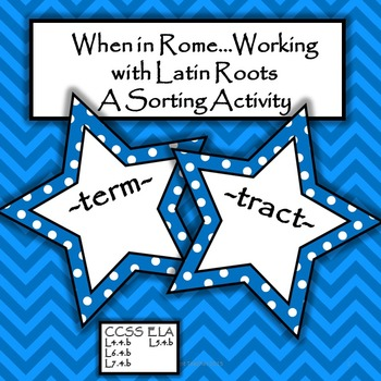 Latin Roots - Sorting