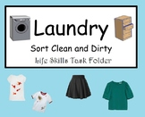 Sorting Laundry: Clean and Dirty File Folder