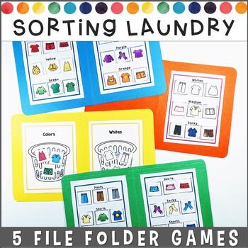 Sorting Laundry File Folder Games