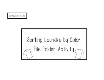 Sorting Laundry by Color - File Folder
