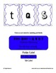 Sorting Letter Fonts for Q R S T Printable File Folder Fun Activity
