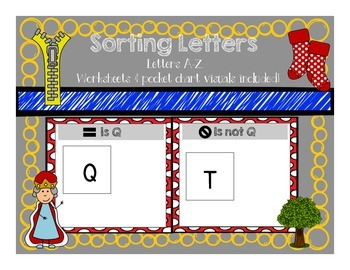 Sorting Letters A-Z Worksheets and Pocket Chart Visuals