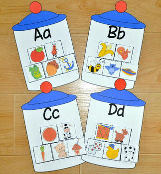 Sorting Letters, Colors and Shapes Jar Jobs Bundle