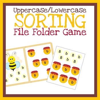 Sorting Letters File Folder Game, Printable Worksheet, Quiet Book Activity