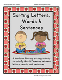 Sorting Letters, Words and Sentences: A Hands-on Activity