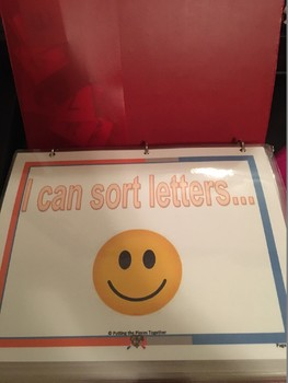 Sorting Letters Work Binder