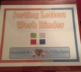 Sorting Letters Work Binder