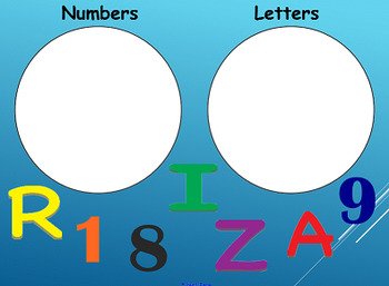 Sorting Letters and Numbers SMART Board Lesson