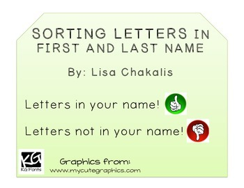 Sorting Letters in First and Last Name
