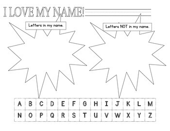 Sorting Letters in my name and not in my name