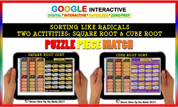 Sorting Like Radicals (Puzzle Match Google Interactive & Hard Copy)