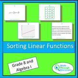 Algebra 1 - Sorting Linear Functions