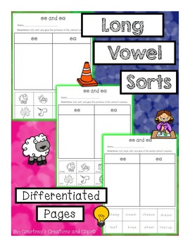 Sorting Long Vowels, A,E,O,I {Differentiated}