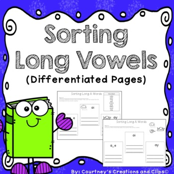 Sorting Long Vowels (Worksheets) Differentiated