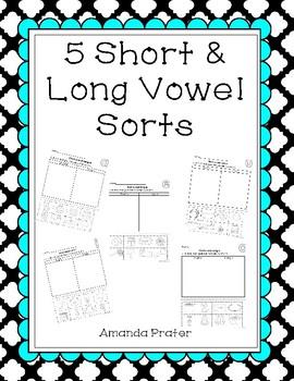 Sorting Long and Short Vowels Worksheets