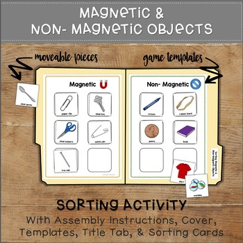 Sorting Magnetic Objects File Folder Game