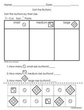 Sorting Math Activities Worksheets (8 pgs Eng & Spanish)