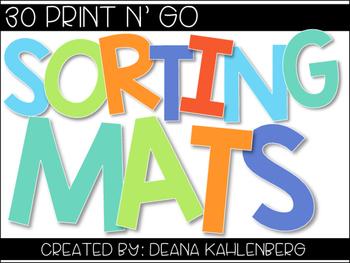 Sorting Mats {No Prep}