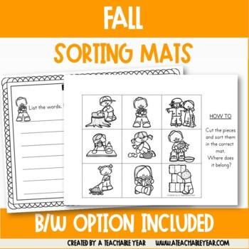 Sorting Mats- Part of Speech- Fall Edition