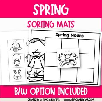Sorting Mats- Part of Speech- Spring Edition
