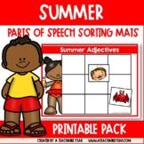 Sorting Mats- Part of Speech- Summer Edition