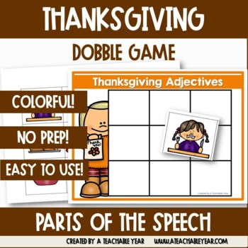 Sorting Mats- Parts of Speech- Thanksgiving Edition
