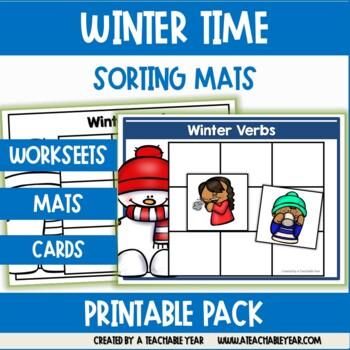 Sorting Mats- Part of Speech- Winter Edition