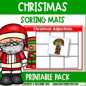 Sorting Mats- Parts of Speech- Christmas Edition