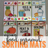 Food Pyramid Sorting Mats [6 mats!] for Students with Spec