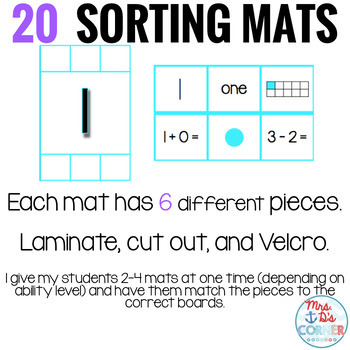 Sorting Mats for Students with Special Needs { NUMBER SENSE - 20 mats }