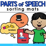 Sorting Mats for Students with Special Needs { PARTS OF SPEECH - 3 sort mats }
