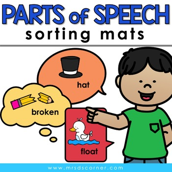 Sorting Mats for Students with Special Needs { PARTS OF SP