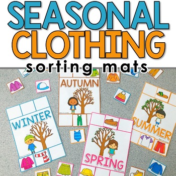 Sorting Mats for Students with Special Needs { SEASONAL CLOTHING - 4 mats }