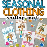Seasonal Clothing Sorting Mats for Students with Special Needs