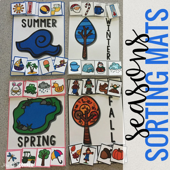Sorting Mats for Students with Special Needs { SEASONS - 4 mats }