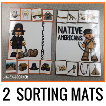 Sorting Mats for Students with Special Needs { THANKSGIVING - 2 mats }