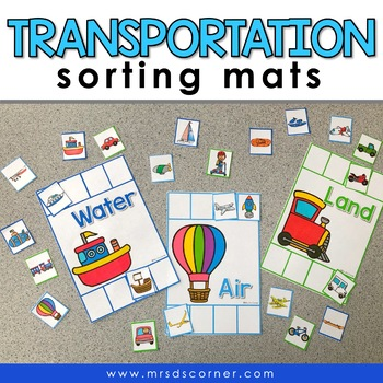 Sorting Mats for Students with Special Needs { TRANSPORTATION - 3 sorting mats }