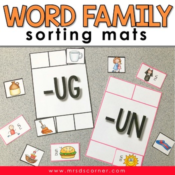 Sorting Mats for Students with Special Needs { WORD FAMILI