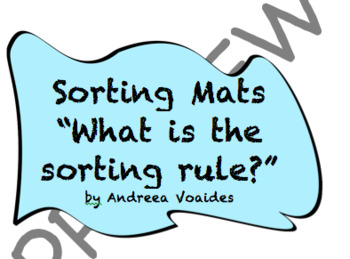 "Sorting Mats with Buttons ""What is the sorting rule?"""