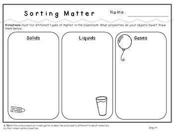Sorting Matter-NGSS Lesson (Second Grade-2-PS1-1)