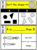 Sorting | Measurement | Kindergarten Math Tasks Cards