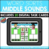 Sorting Middle Sounds in Words | Boom Cards™ | Distance Learning