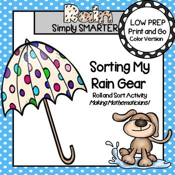 Sorting My Rain Gear:  LOW PREP Roll and Sort Activity
