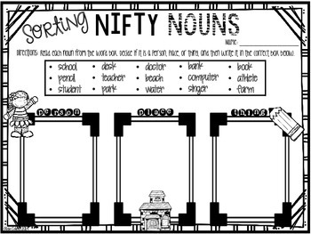 Sorting Nifty Nouns - UPDATED version