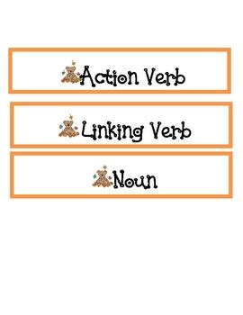 Sorting Nouns, Action Verbs, and Linking Verbs