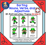 Sorting Nouns, Verbs and Adjectives  St. Patrick's Day Theme